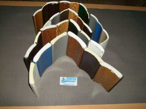 uzorci za roletne i rolo garažna vrata- presek